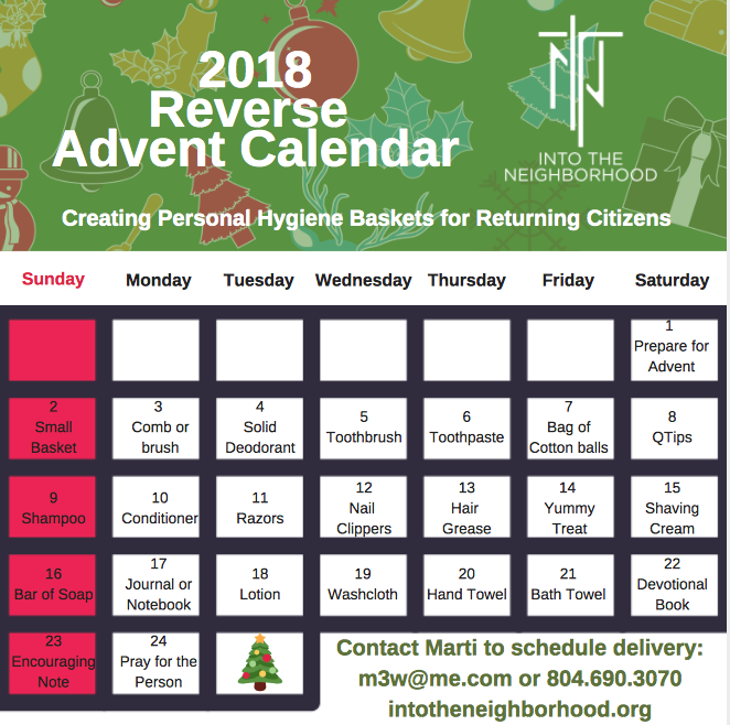 itn 2018 reverse advent calendar